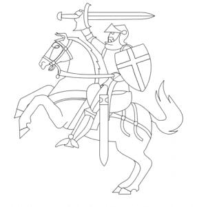 Рыцарь с мечом и щитом