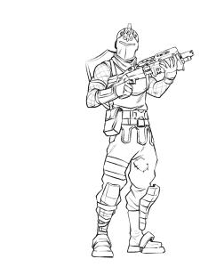 Фортнайт с пушкой раскраска