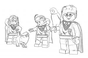 Гарри Поттер лего и друзья раскраска