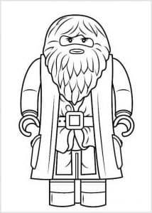 Дедушка из Гарри Поттера Лего раскраска