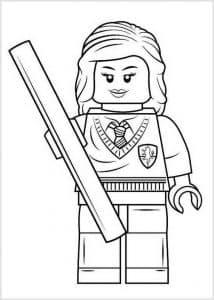 Гарри Поттер лего держит палку