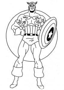 Капитан Америка раскраска