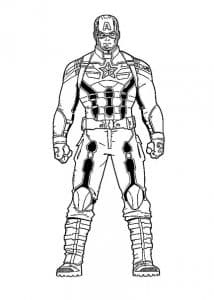 Капитан Америка без щита раскраска