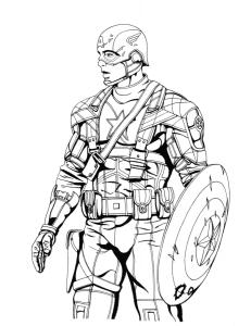 Капитан Америка в экипировке