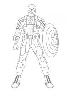 Капитан Америка раскраска для мальчиков