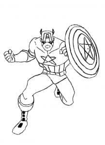 Капитан Америка летит с кулаком