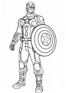 Капитан Америка раскасрка для девочек