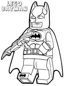 LEGO BATMAN раскраска