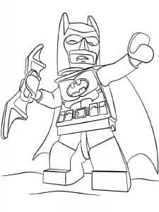 Лего Бэтмен в плаще раскраска детская