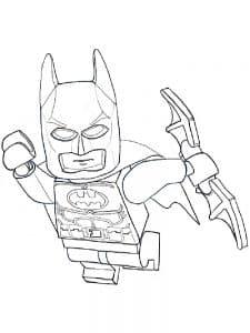 Лего Бэтмен летит спасать раскраска