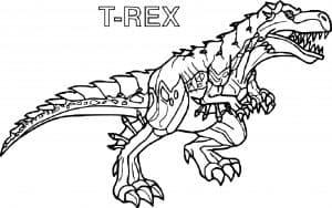 Раскраска Динозавр Лего