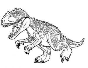 Раскраска для девочек динозавр Лего