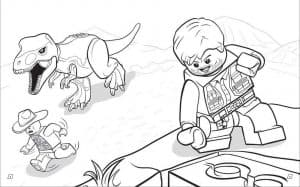 Человечки и динозавр Лего