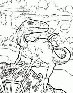 Динозавр Лего раскраска детская