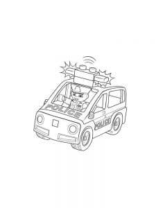 Полицейская машина лего дупло