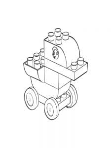 Утка на колесах лего дупло