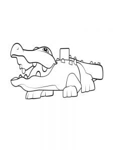 Крокодил лего дупло
