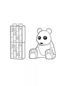 Медвежонок лего дупло раскраска детская