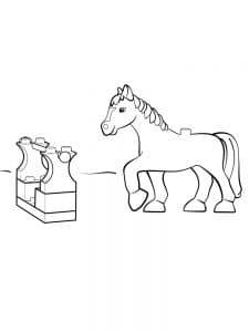 Лошадь лего Дупло