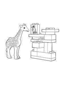 Жираф лего дупло
