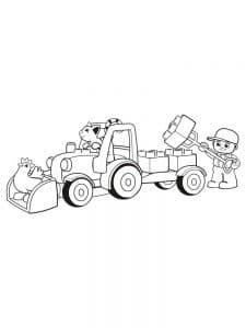 большой автомобиль Лего Дупло раскраска