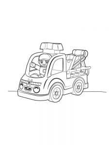 Машинка Лего Дупло раскраска