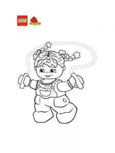Девочка со скакалкой Лего Дупло