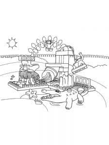 Лего Дупло раскраска для ребенка