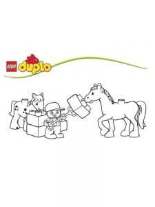 Лего Дупло лошадка раскраска