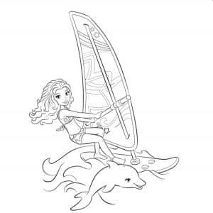 Раскраска Лего Френдс дельфин