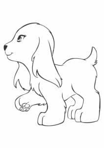 Лего Френдс раскраска собачка