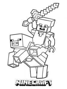 Лего Майнкрафт на коне