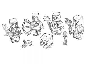 Лего Майнкрафт детская раскраска