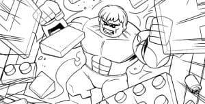 Лего Марвел халк раскраска детская