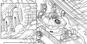 Лего Марвел машина