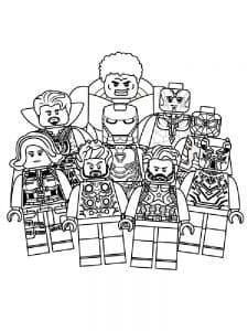 Красивая раскраска Лего мстители