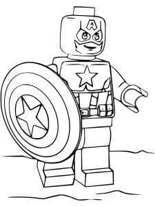 Раскраска герой лего мстители