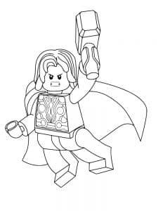 Лего мститель в плаще раскраска