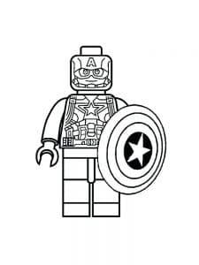 Лего мститель с щитом раскраска