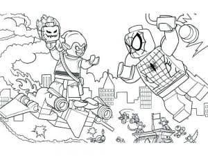Лего мститель и человек паук