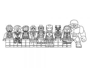 Лего мстители раскраска для ребенка