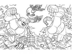 Сражение лего мстителей
