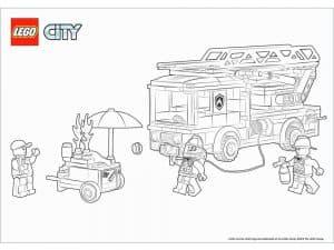 Лего сити пожарная машина