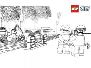 Лего сити два человека раскраска