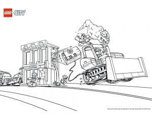Лего сити раскраска детская