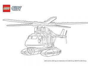 Вертолет Лего раскраска для ребенка