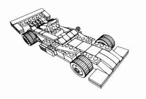 Гоночная машина Лего