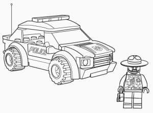 Машина полиции и полицейский Лего