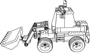 Трактор Лего раскраска