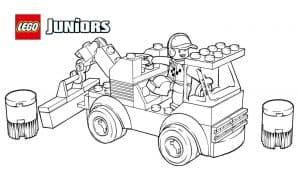 Машина Лего с водителем раскраска детская